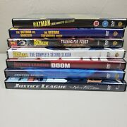 Mixed Dvd Movie Lot Of 7 Batman Justice League New Frontier The Batman Animation