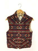 Pendleton Wool  Multicolor Wool Fashion Down Vest 1744 From Japan