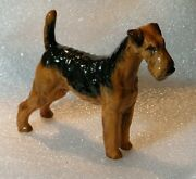 Vintage Royal Doulton Airedale Terrier Hn 1024 Bone China Figurine, Signed Ms