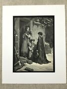 The Grasshopper And The Ant La Fontaine Fables Childrens Story Antique Print