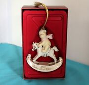 Lenox Winnie The Pooh Babys First Christmas Ornament 2007 Rocking Horse Mint