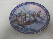Vintage Collectible Platepansiessecond Issuelena Liu's Basket Of Bouquets