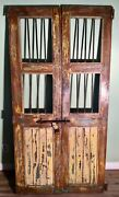 Antique Architectural Salvaged Wood And Iron Doors. Wine Cellar Doors