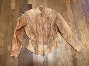 Womenand039s Adventure Bound Fringed Leather Jacket By Wilsons Size M