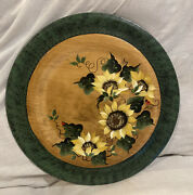 """Woodzels By Wetzels Saxtons River,vt Hand Painted Wood Serving Tray Wall Art 15"""""""