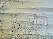 Chinese Very Old Ink Figures Drawing Ancient Painting Scroll