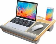 Lap Desk Fits Up To 17 Inches Laptop Desk Built In Mouse Pad Wrist Pad For Noteb