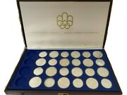 1976 Canadian Olympic Games Sterling Silver Coins W/ Original Box
