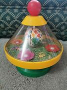 Chicco Spinning Top With Hidden Bee Inside Opening Flower Made In Italy Retro