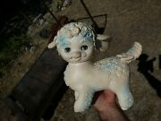 Vintage 1961 Sheep/lamb Squeeze Toy Child Collectible Blinking Eyes Mid-century