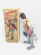 Early Louis Marx Hey Hey The Chicken Snatcher Tin Windup Toy With Box