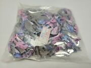 Lot Of 144 Pcs Pink Coyote Metal Western Bolo Slotted Conchos Leather Crafts Vtg