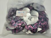 Wholesale Lot 144 Pcs Pink Heart Metal Western Slotted Conchos Leather Craft Vtg