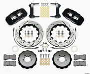 Wilwood Aero6 Front Hat Kit 14.00 Drilled For 1999-2012 Subaru Wrx W/lines - Wil