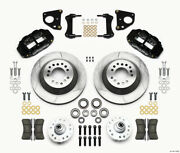 Wilwood Narrow Superlite 6r Front Hub And 1pc Rtr Kit 12.88in 62-72 Cdp B And E Body
