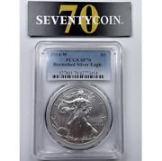 2014 W Pcgs Sp70 American Silver Eagle Burnished Ase 3414