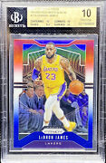 Lebron James 2019-20 Panini Prizm Red White And Blue Lakers Bgs 10 Pristine