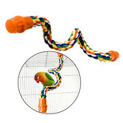 Bendable Bird Rope Perch Swing Perch For Parrot Cockato Supplies Pet Toy