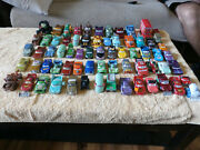 Disney Pixar Cars Cars Die-cast Lot Of 68 2 To 5 Inches Nice Selection