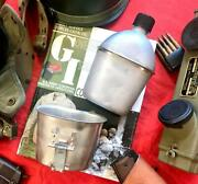 Wwii Canteen And Cup G.p.and F. 1944 - Foley 1945 Andldquomintyandrdquo 1
