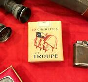 """Post Wwii Very Rare """"empty"""" French Cigarette Pack - De Troupe - Minty Condition"""
