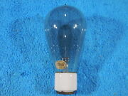 Edison/ge Carbon Filament Light Bulb From The Early 1900and039s Porcelain Base