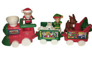 Fisher Price Little People Christmas Train Santa Elf And Reindeer 2001/ 2002 Toy