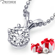 1/2 Ct Diamond Pendant Natural Round Solitaire Necklace 14k White Gold 52356267