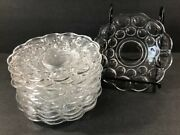12 Heisey Whirlpool Provincial Clear Glass Bread And Butter Plates 6 7/8