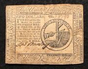 1975 2 Continental Currency Note May 10 1975 Two Dollar Continental Currency