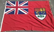Vintage Cotton Flag Canada Red Ensign British Canadian Union Jack Old Cloth