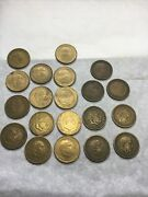 1947 To 1963 Spanish Una Peseta Coin Lot- 7-1947 8-1953 5-1963 20 Coin Lot