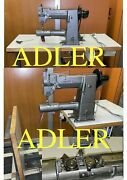 Adler 169 Two-needle Arm Sewing Machine Triple Feed Large Folding Table...