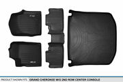 Maxliner 1st 2nd And Cargo Floor Mats Black For 13-16 Grand Cherokee W/o Console