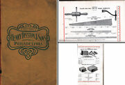 Henry Disston And Sons- 1906 Catalog Of Mill And Crosscut Saws And Equipment- 112 Pgs.