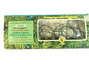 Vintage 10 Light Old Fashioned Christmas Tree Candles String Lights 10 Feet