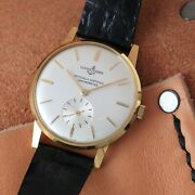 Vintage Authentic Mint Ulysse Nardin In 18k Solid Gold Manual Wind Gents Watch