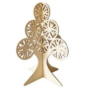 Diy Wooden Christmas Ornaments 3d Hollow Carved Xmas Tree Crafts Home Decor Z