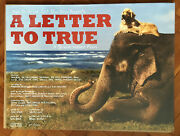 Very Rare Bruce Weber A Letter To True Uk Theatrical Poster 30 X 40 Inches