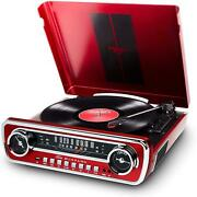 Ion Mustang Lp 4-in-1 Vinyl Record Player/turntable With Built In Speakers