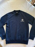 Look New With Tags Womenandrsquos Xs Converse Blue Crew Sweatshirt