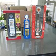Lot Of 3 Die Cast Gas Pumps 2 Crown Premiums And 1 Texaco Gearbox Ltd 1997