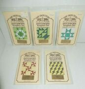 5 Vintage Lot 1979 Patchwork Quilt Template Sets The Quiltery Made In England