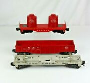 Vintage Lionel Trains Post War Flat Car Canister 61125 Flat Bed 336155 Nyc 6462