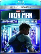 Iron Man 3-movie Collection Blu-ray 2021 New Sealed
