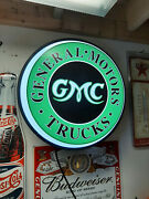 Gmc Truck Lighted Gas Globe Sign Sign
