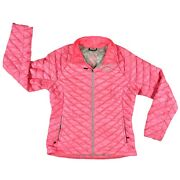 Womens The Tnf Thermoball Pink Puffer Jacket Size Large
