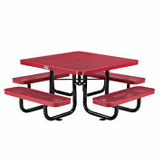 46 Child Size Square Expanded Picnic Table Red