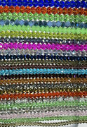 ✨26 Strand Glass Faceted Rondelle Bead Lot✨huge Crystal Beads 6-12mm 7andrdquo🖤r4