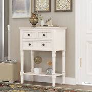 Narrow Console Table Ultra-thin Sofa Table With 3xlockers Underframe Entryway